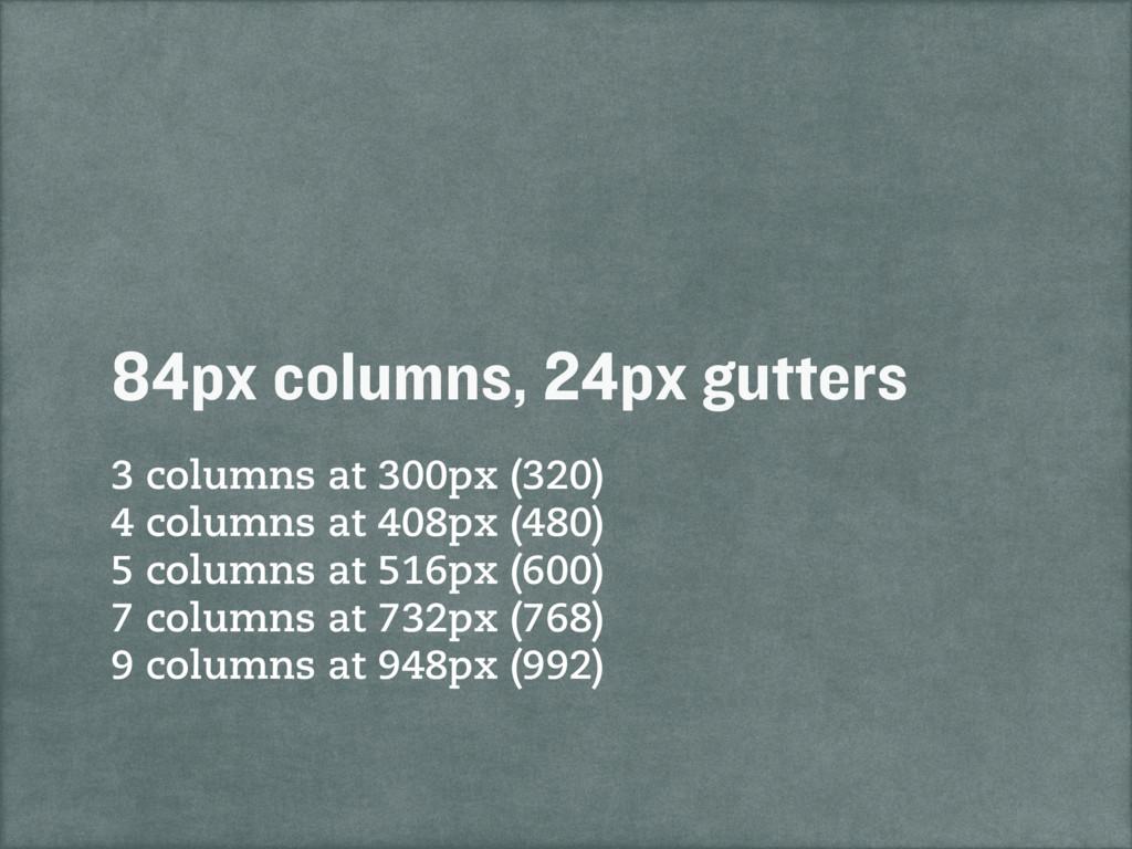 3 columns at 300px (320) 4 columns at 408px (48...