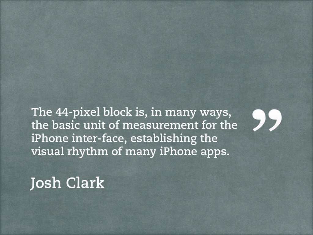 The 44-pixel block is, in many ways, the basic ...