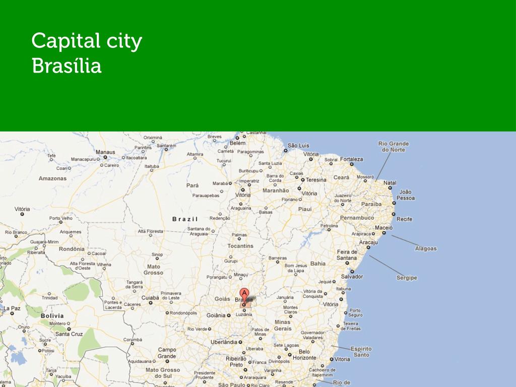 Capital city Brasília