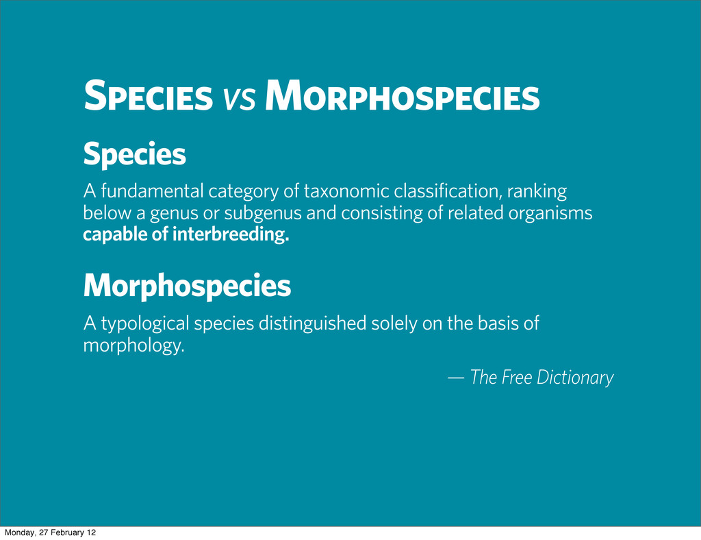 A fundamental category of taxonomic classificat...