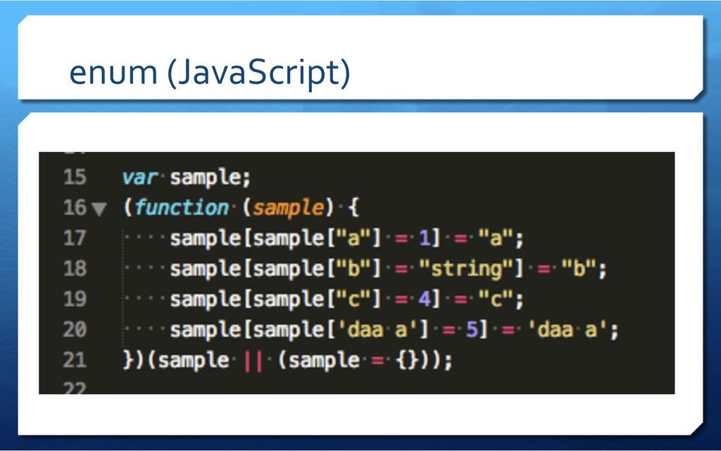 enum (JavaScript)