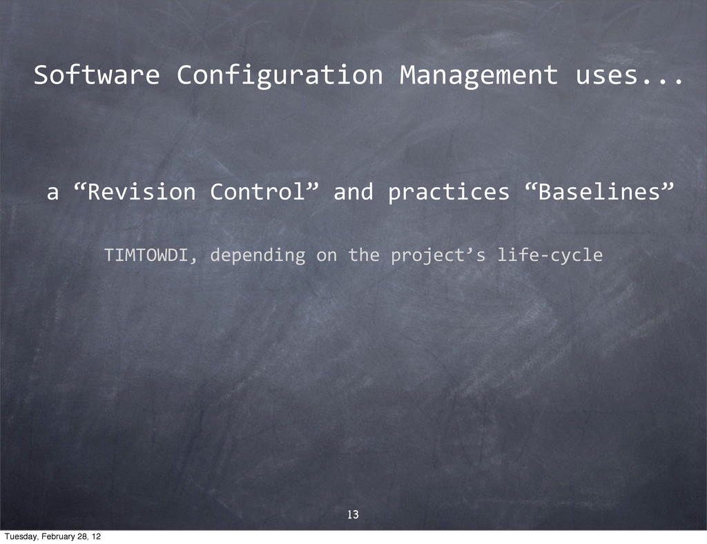 "a$""Revision$Control""$and$practices$""Baselines"" ..."
