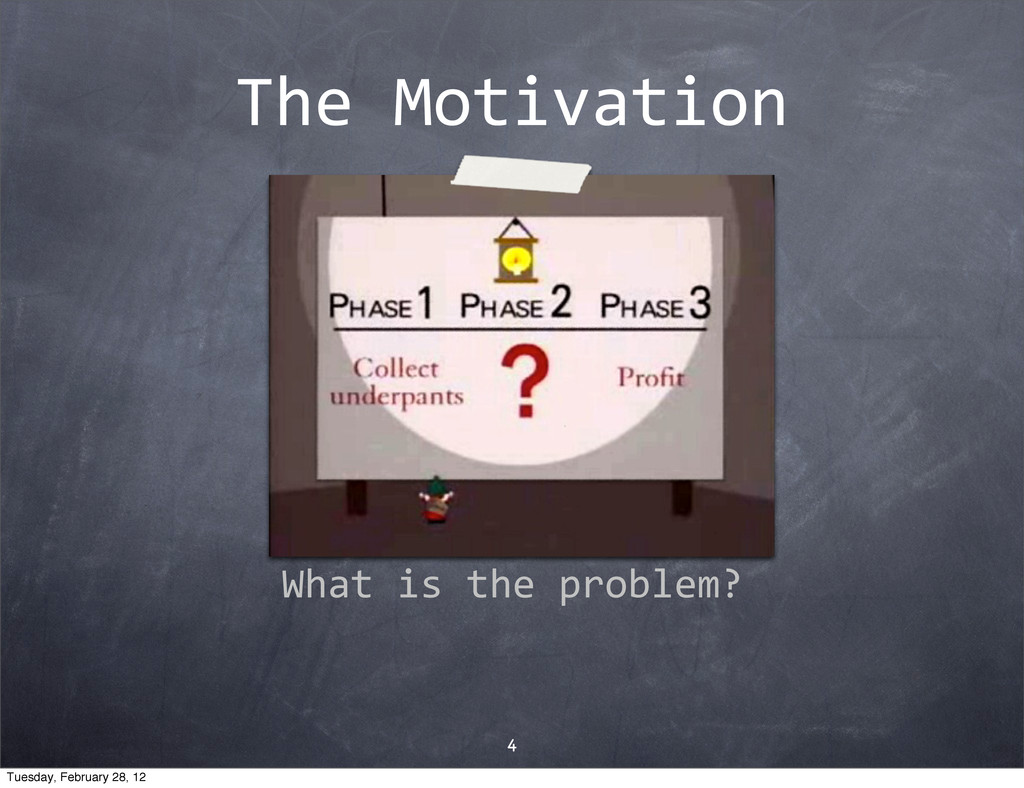 The$Motivation 4 What$is$the$problem? Tuesday, ...