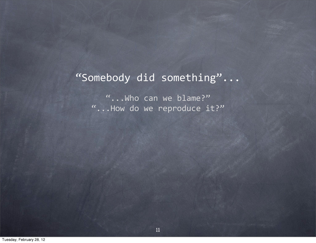 """Somebody$did$something""... ""...Who$can$we$blam..."