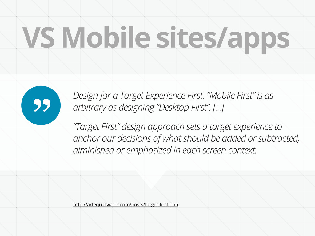 VS Mobile sites/apps Design for a Target Experi...