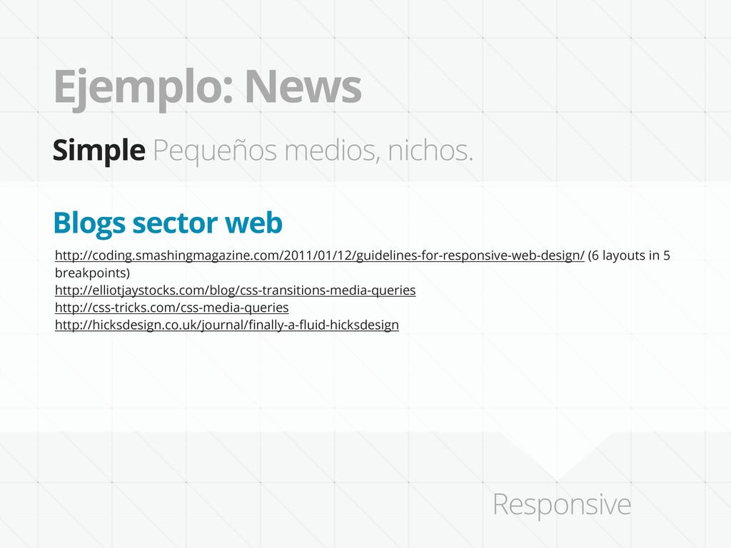 Ejemplo: News Simple Pequeños medios, nichos. h...