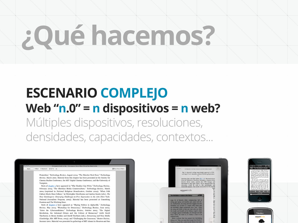 """¿Qué hacemos? ESCENARIO COMPLEJO Web """"n.0"""" = n ..."""