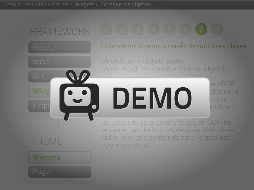FRAMEWORK Helpers THEME Widgets Pages Widgets E...