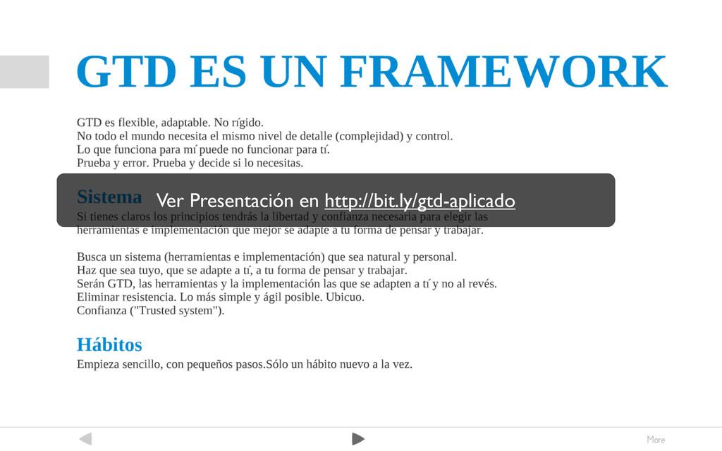Ver Presentación en http://bit.ly/gtd-aplicado