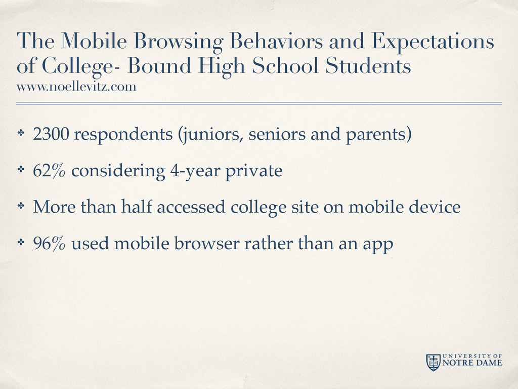 The Mobile Browsing Behaviors and Expectations ...