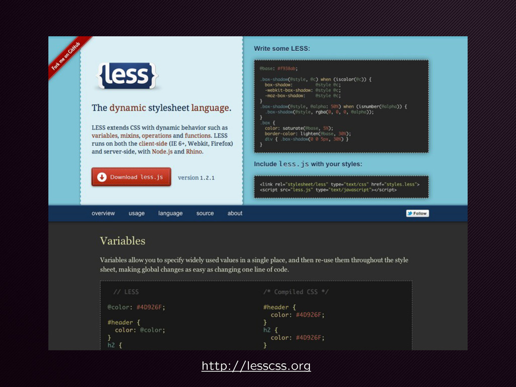 http://lesscss.org