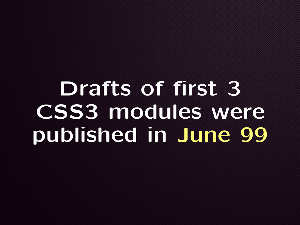 Drafts of first 3 CSS3 modules were published i...
