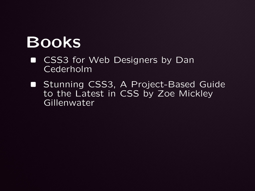 Books • CSS3 for Web Designers by Dan Cederholm...