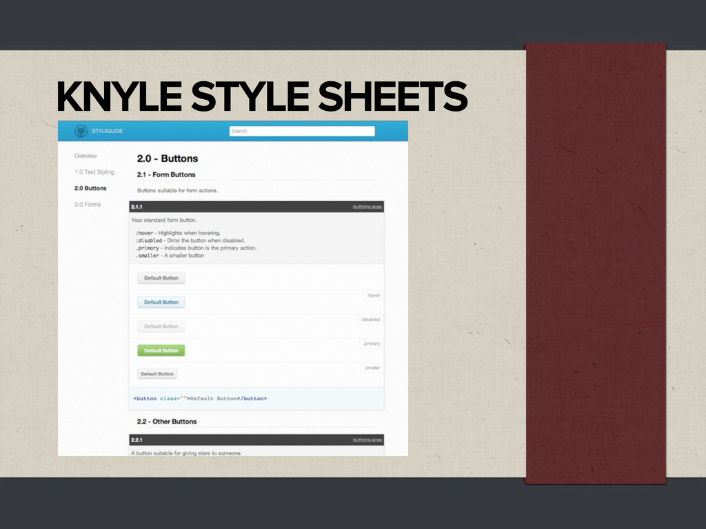 KNYLE STYLE SHEETS