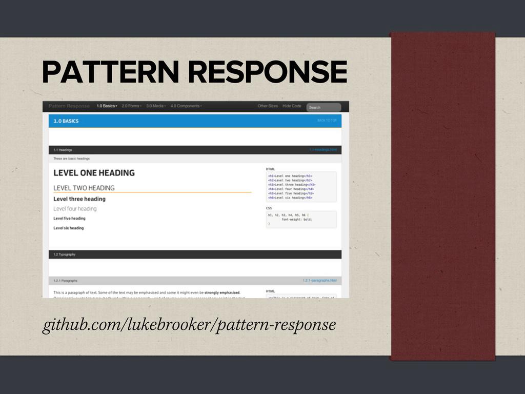 PATTERN RESPONSE github.com/lukebrooker/pattern...