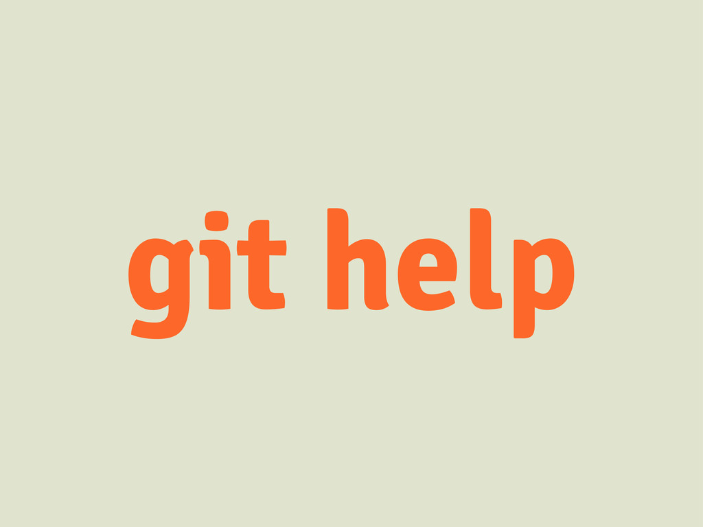 git help