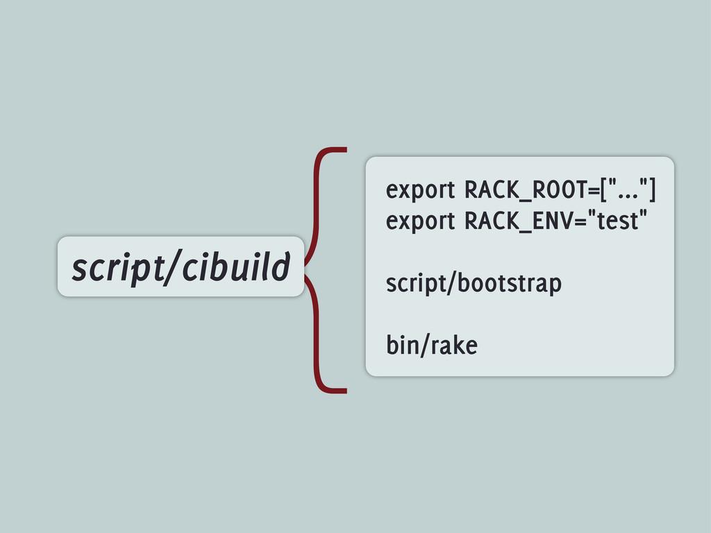 """{ script/cibuild export RACK_ROOT=[""""...""""] expor..."""