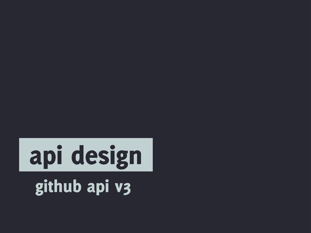 api design github api v3
