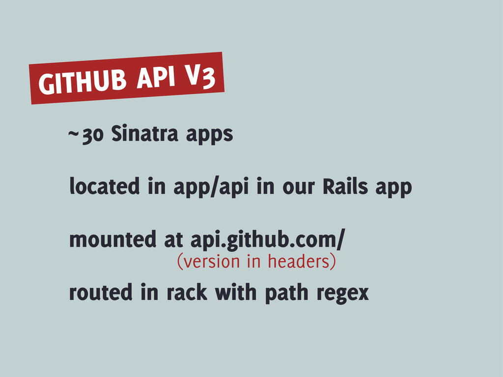 GITHUB API V3 ~30 Sinatra apps located in app/a...
