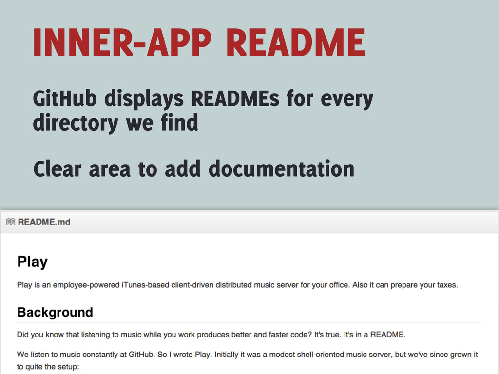 INNER-APP README GitHub displays READMEs for ev...