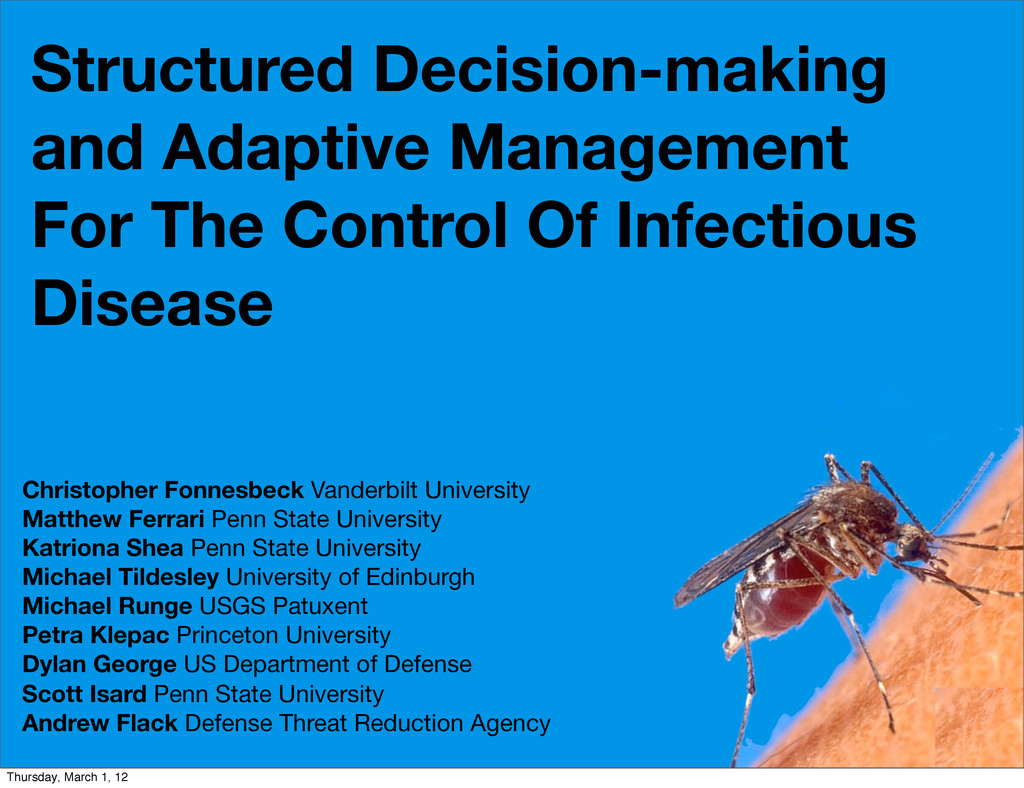 Structured Decision-making and Adaptive Managem...