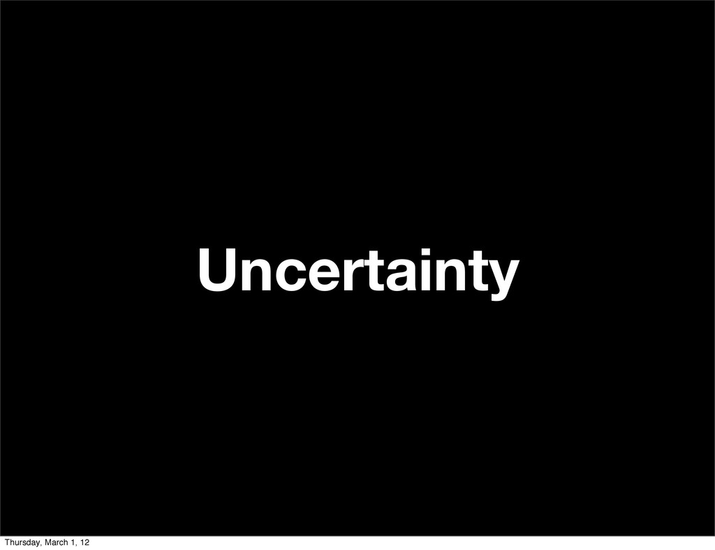 Uncertainty Thursday, March 1, 12