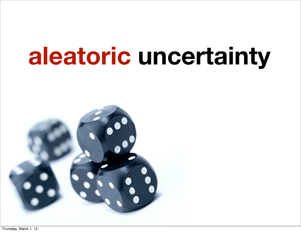 aleatoric uncertainty Thursday, March 1, 12