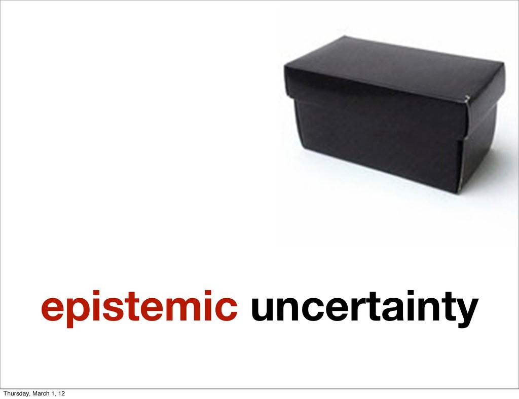 epistemic uncertainty Thursday, March 1, 12