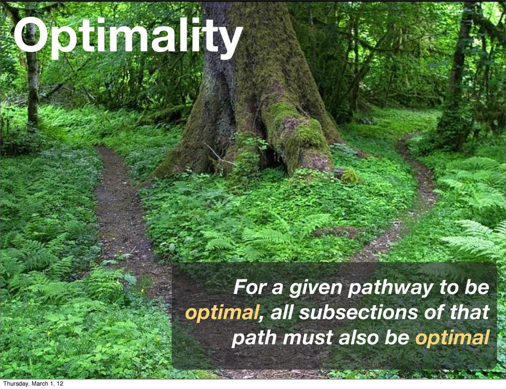 Optimality For a given pathway to be optimal, a...