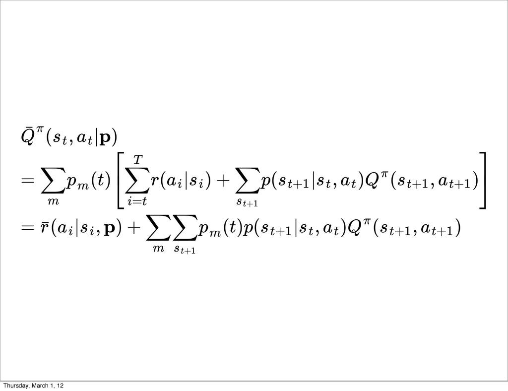 ( , |p) Q ˉπ st at = (t) r( | ) + p( | , ) ( , ...