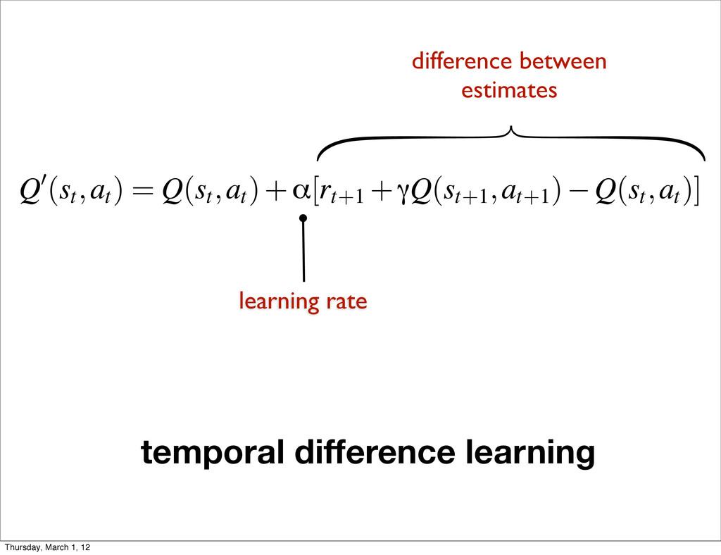 Q0(st,at ) = Q(st,at )+α[rt+1 +γQ(st+1,at+1 ) Q...