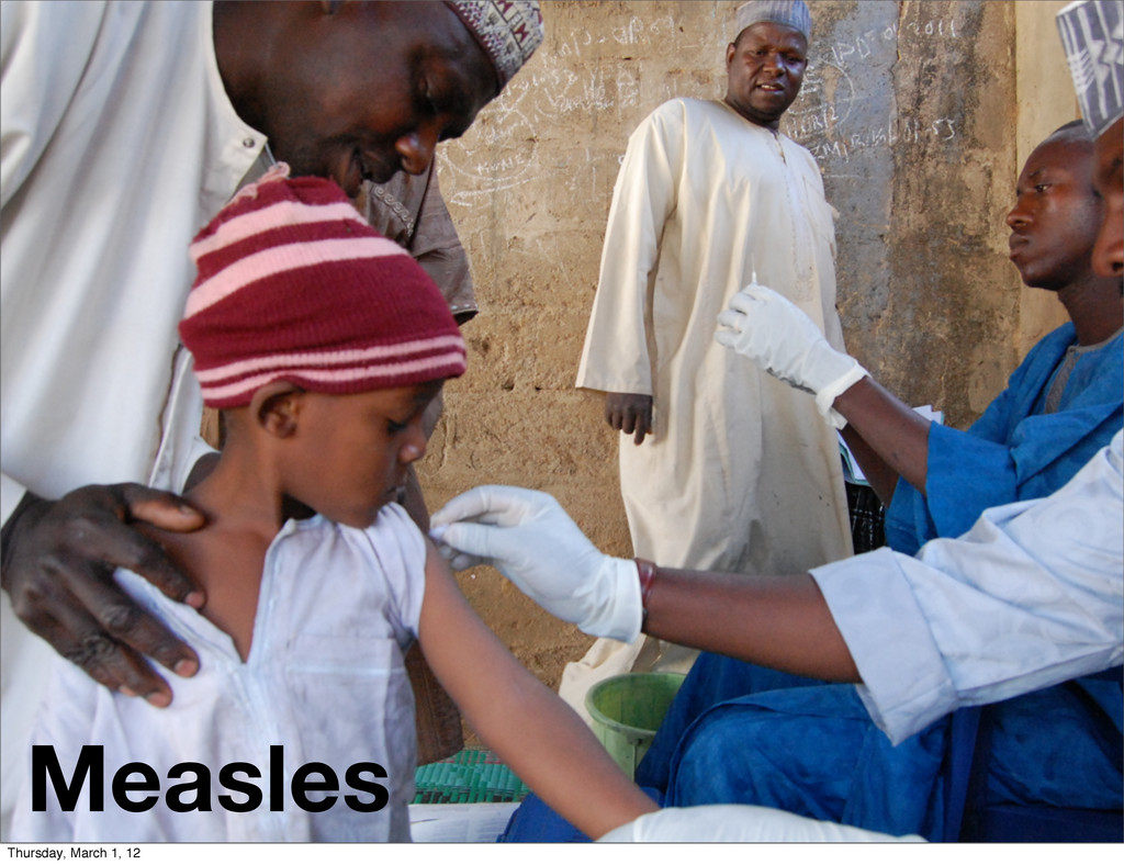 Measles Thursday, March 1, 12