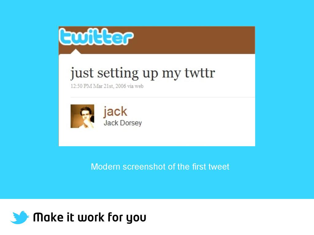 Make it work for you Modern screenshot of the f...