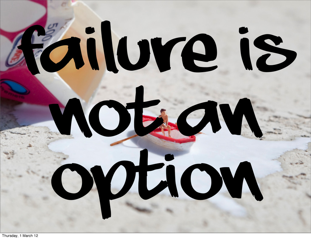 Failure is not an option Thursday, 1 March 12