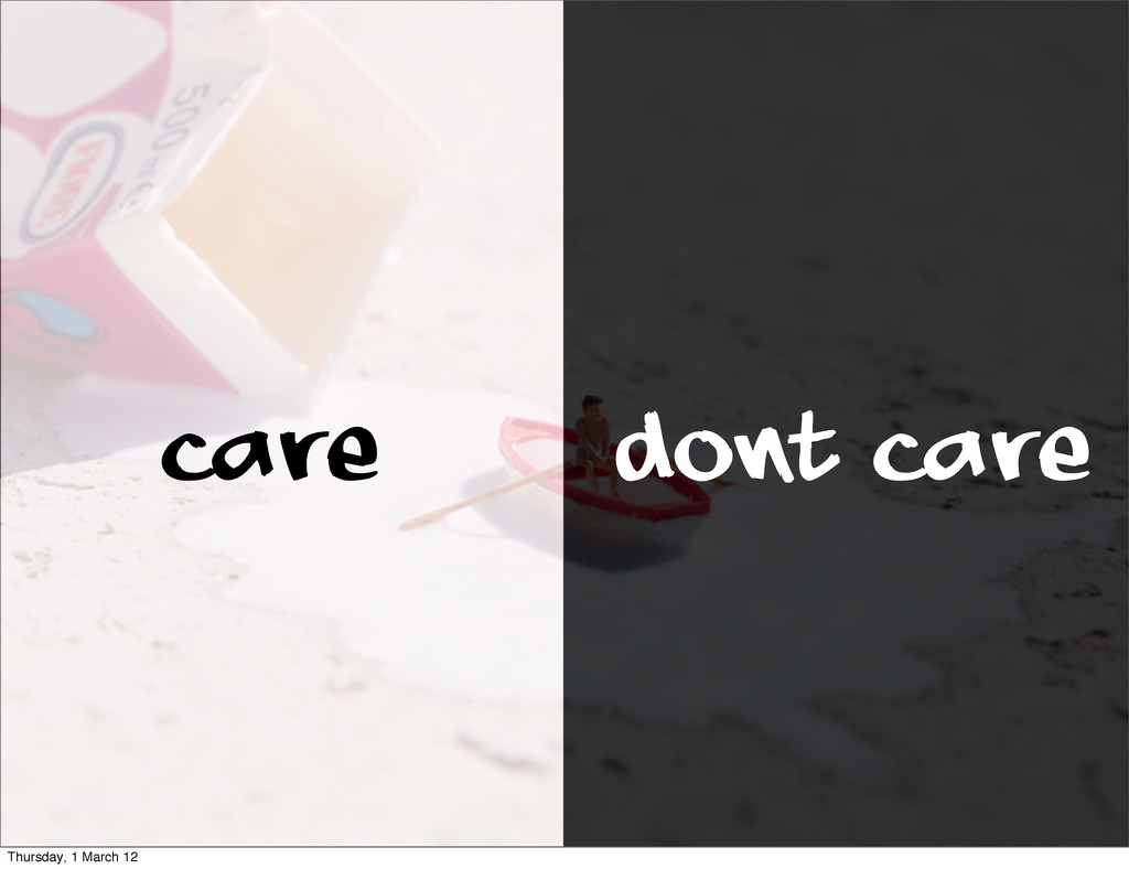 Care Dont Care Thursday, 1 March 12
