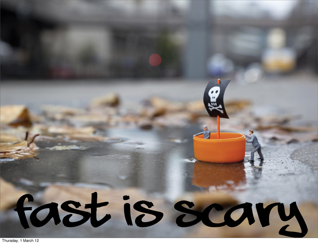 fast is scary Thursday, 1 March 12