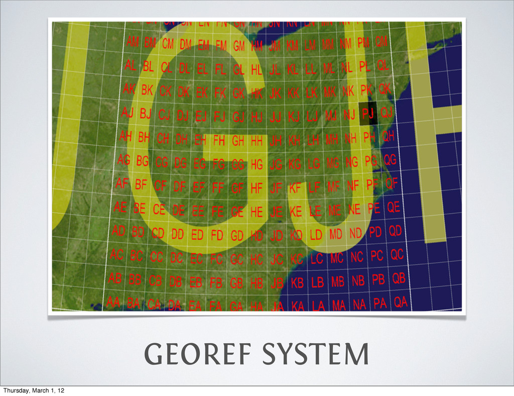 GEOREF SYSTEM Thursday, March 1, 12