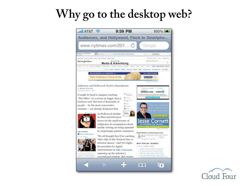 Why go to the desktop web?