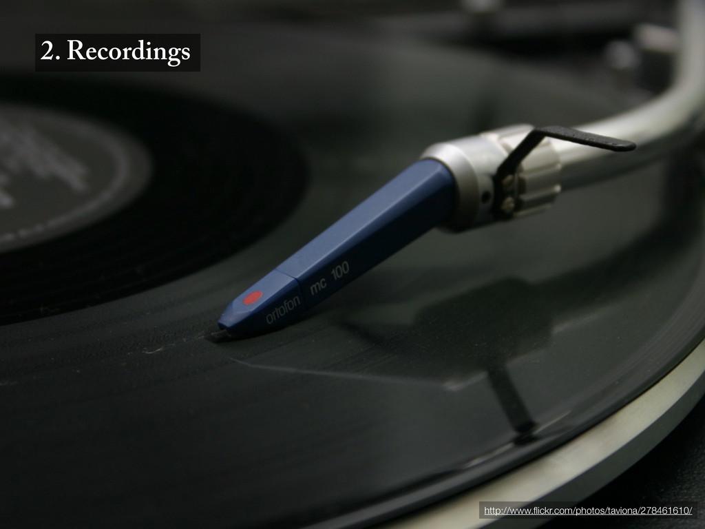 2. Recordings http://www.flickr.com/photos/tavio...