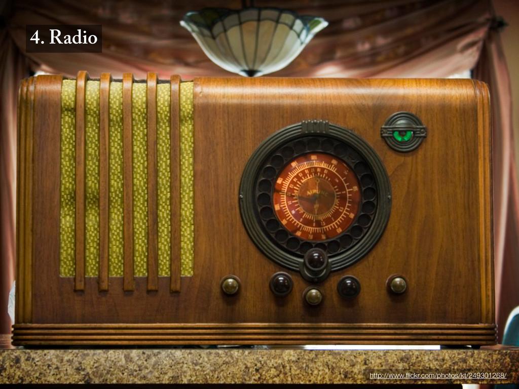 4. Radio http://www.flickr.com/photos/kt/2493012...