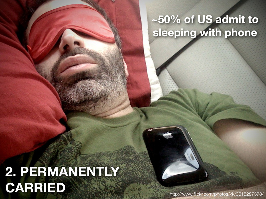 2. PERMANENTLY CARRIED ~50% of US admit to slee...