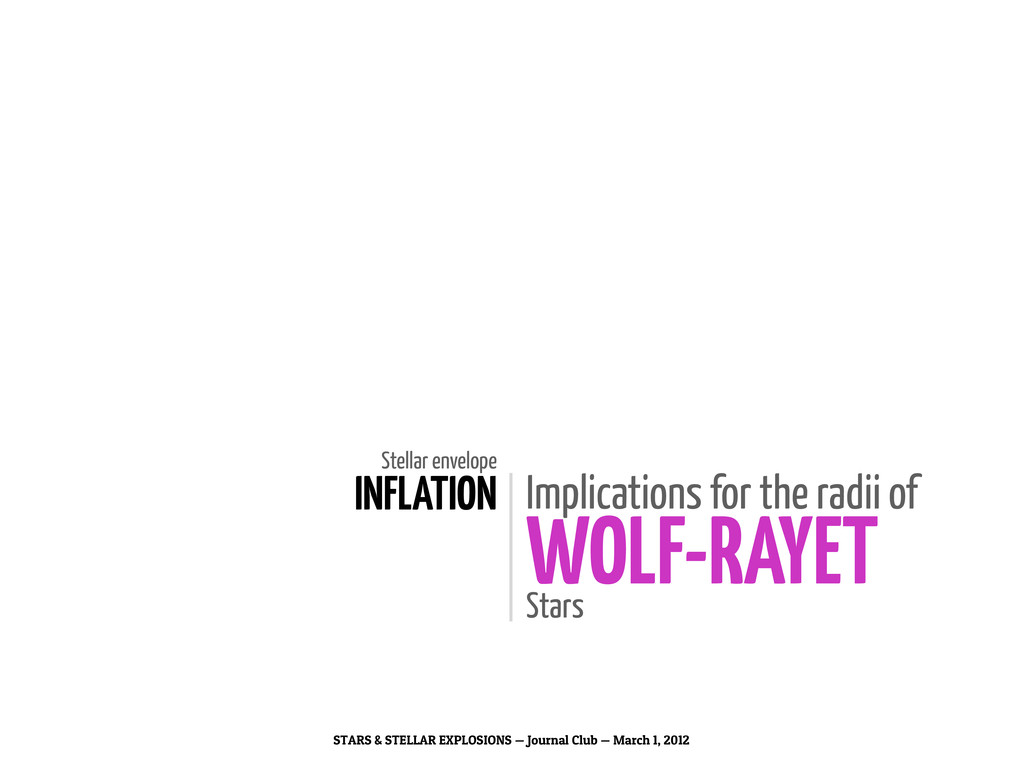 Stellar envelope INFLATION Implications for the...