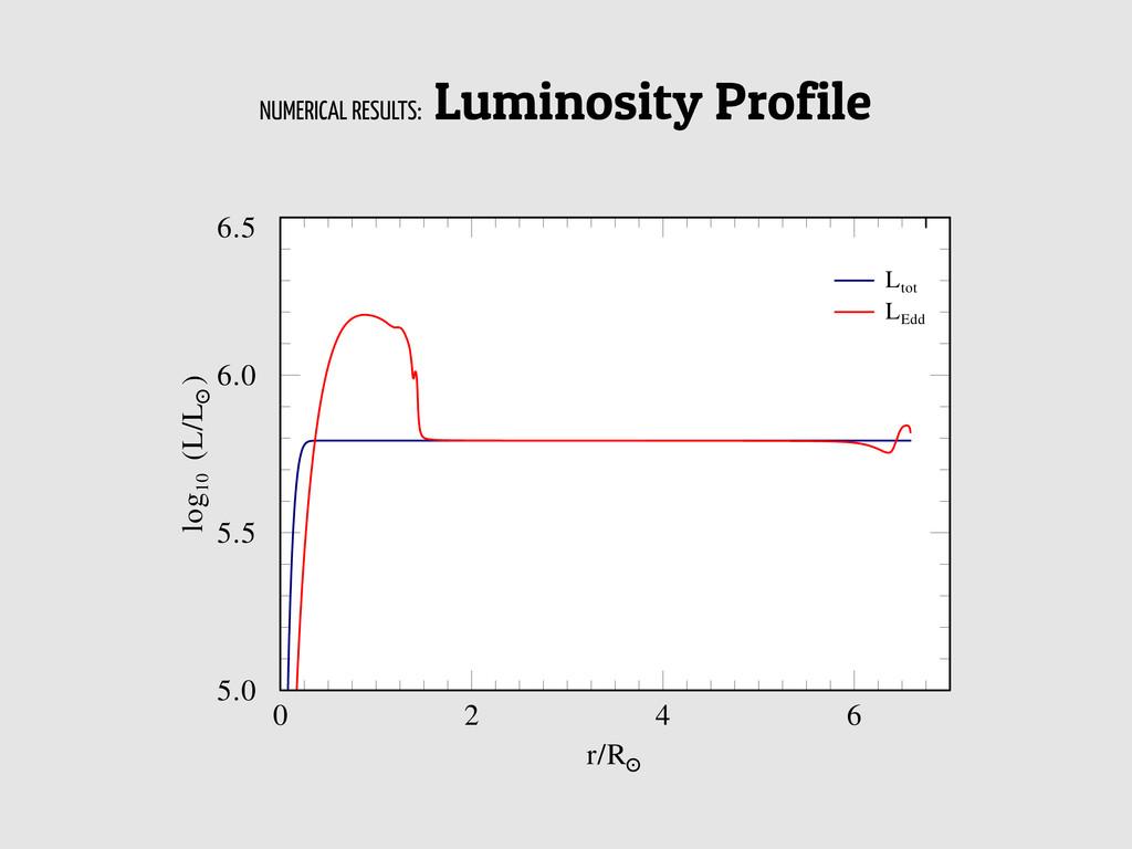 NUMERICAL RESULTS: Luminosity Profile G. Gräfen...