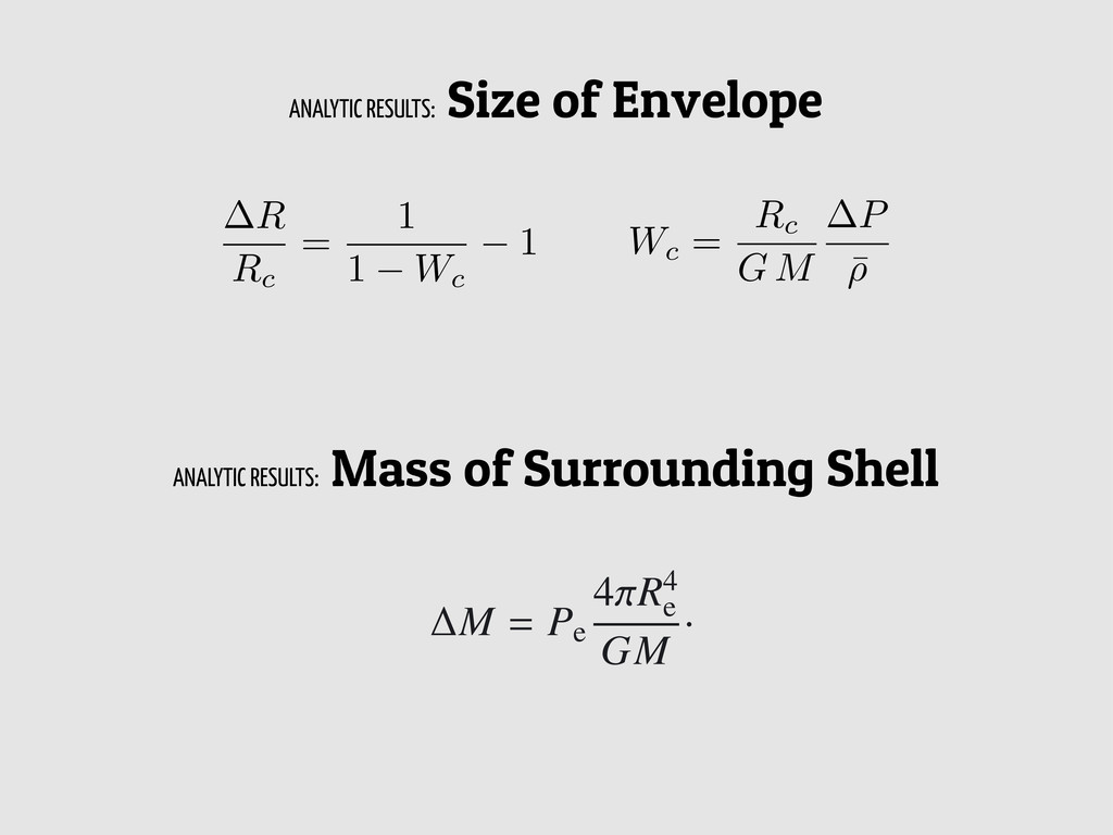 R Rc = 1 1 Wc 1 Wc = Rc G M P ¯ ⇢ The mass ∆M o...