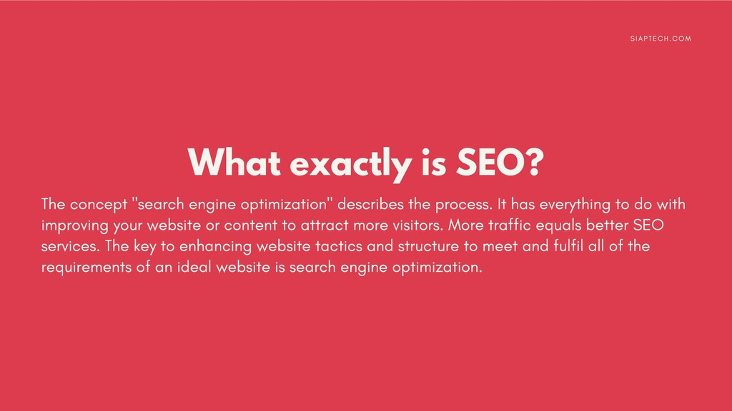"""What exactly is SEO? The concept """"search engine..."""