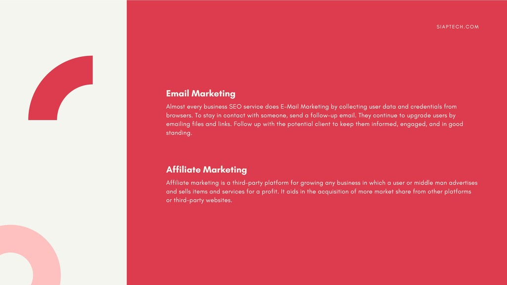 Almost every business SEO service does E-Mail M...
