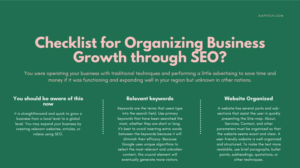 Checklist for Organizing Business Growth throug...