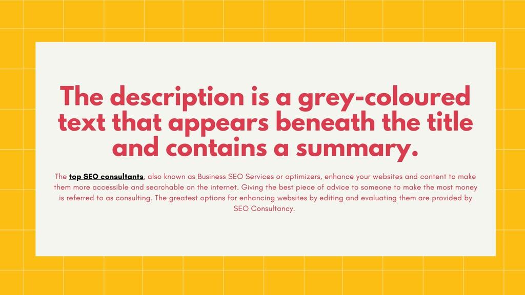 The description is a grey-coloured text that ap...