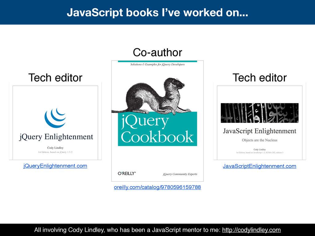 Co-author Tech editor Tech editor jQueryEnlight...