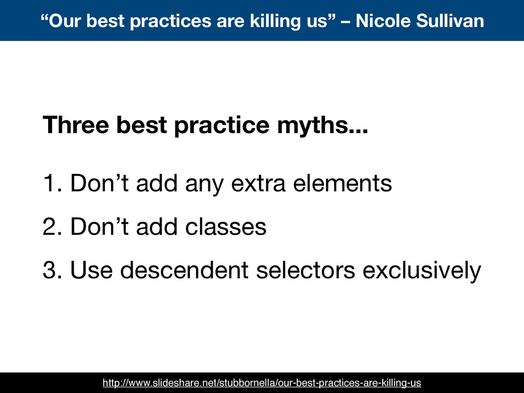 """""""Our best practices are killing us"""" – Nicole Su..."""